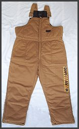 Work Bib Overalls Brown